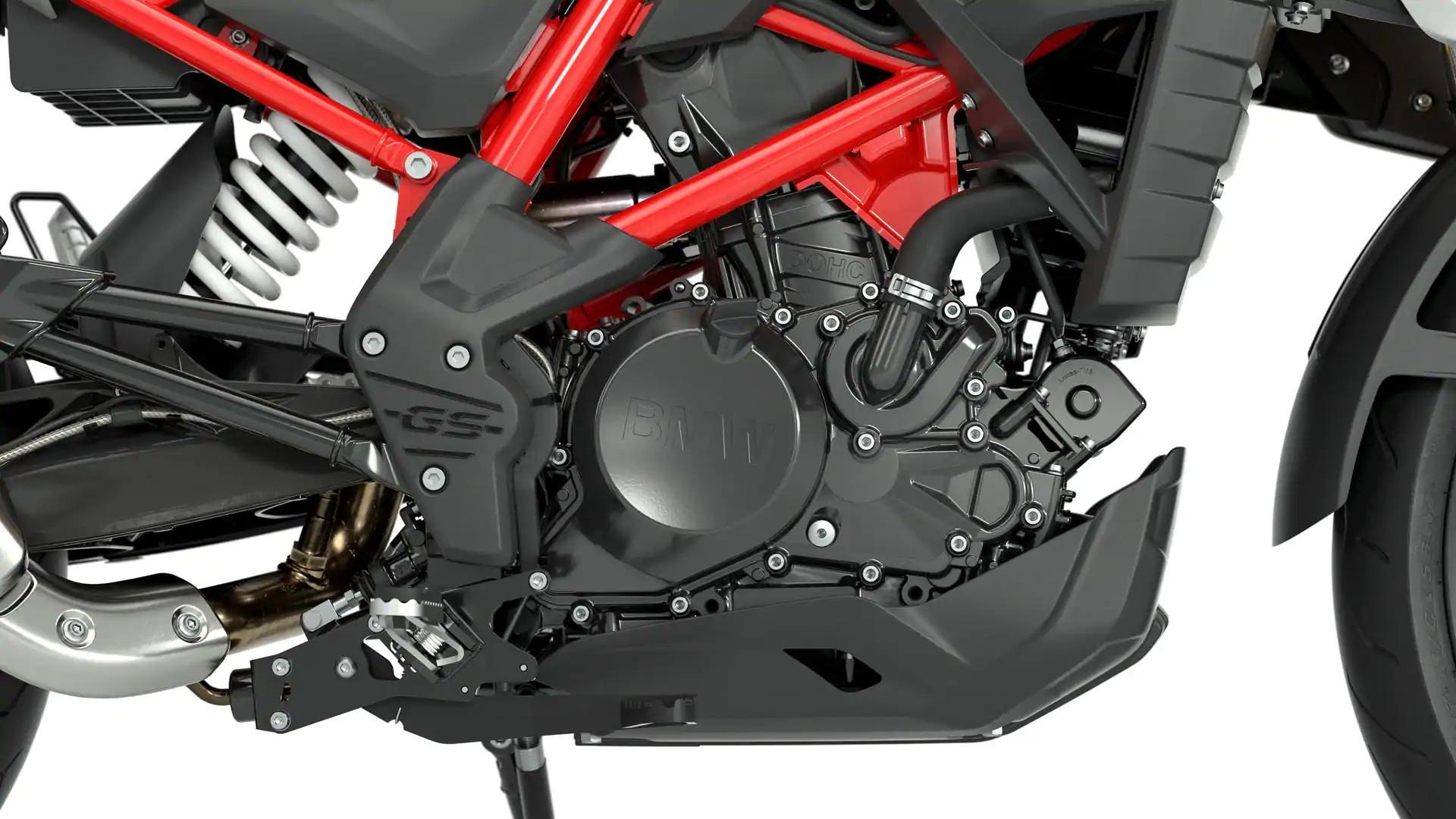Мощный одноцилиндровый двигатель
